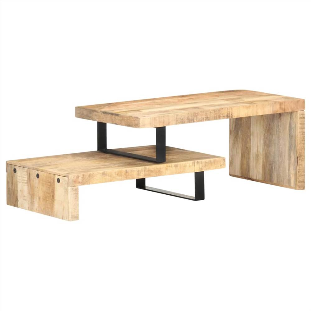 Set di tavolini da caffè 2 pezzi in legno massello di mango