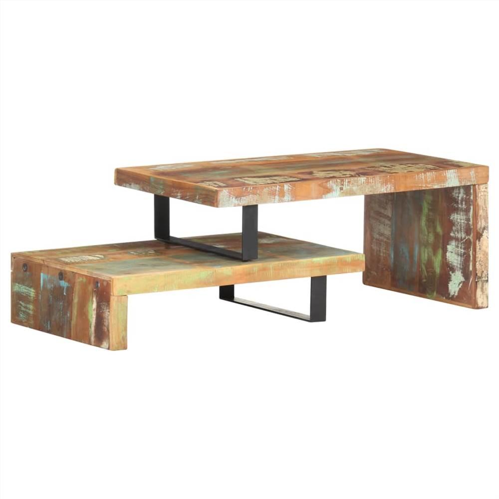 Set di tavolini da caffè 2 pezzi in legno massello di recupero