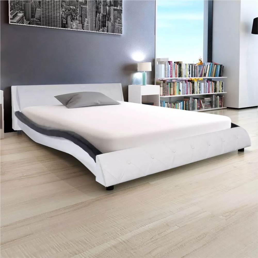 Cadre de lit en cuir artificiel 4FT6 Double / 135x190 cm