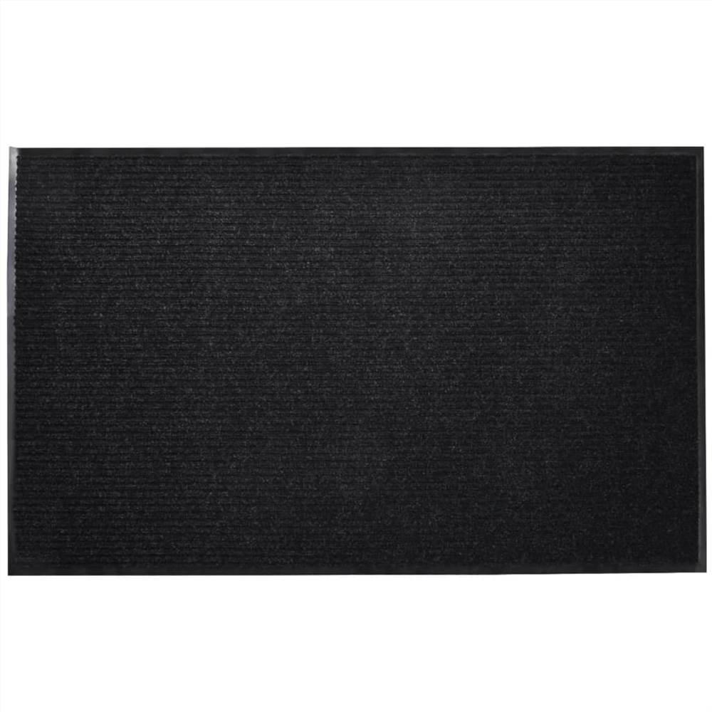 Black PVC Door Mat 90 x 120 cm