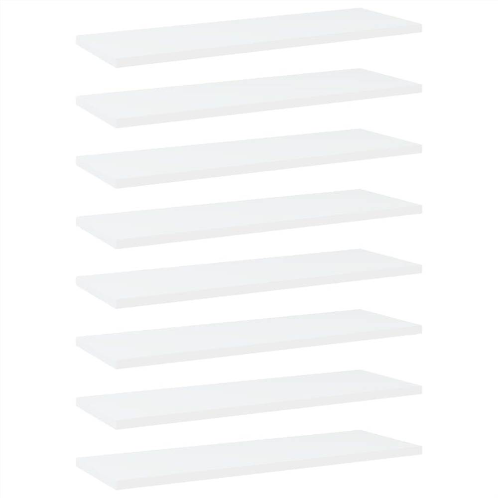 Bookshelf Boards White 60x20x1.5 cm Chipboard, Other  - buy with discount