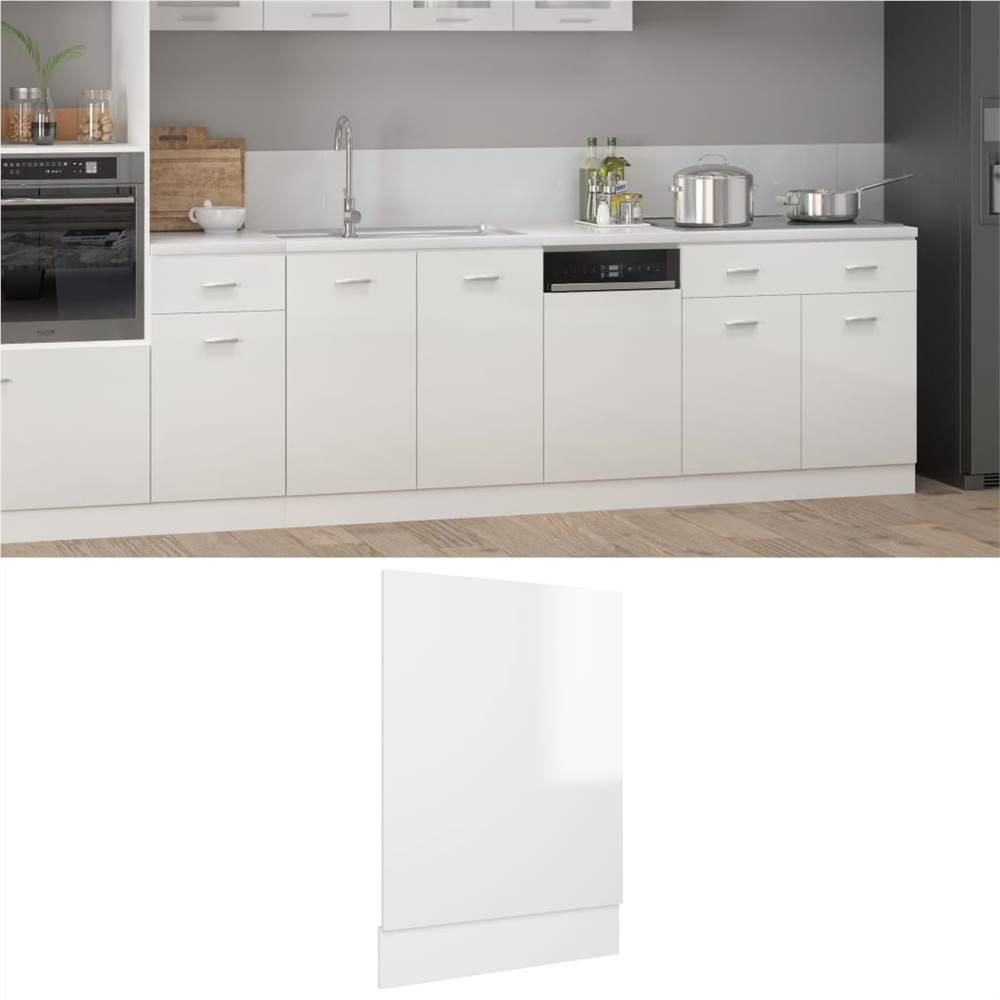 Dishwasher Panel High Gloss White 45x3x67 cm Chipboard