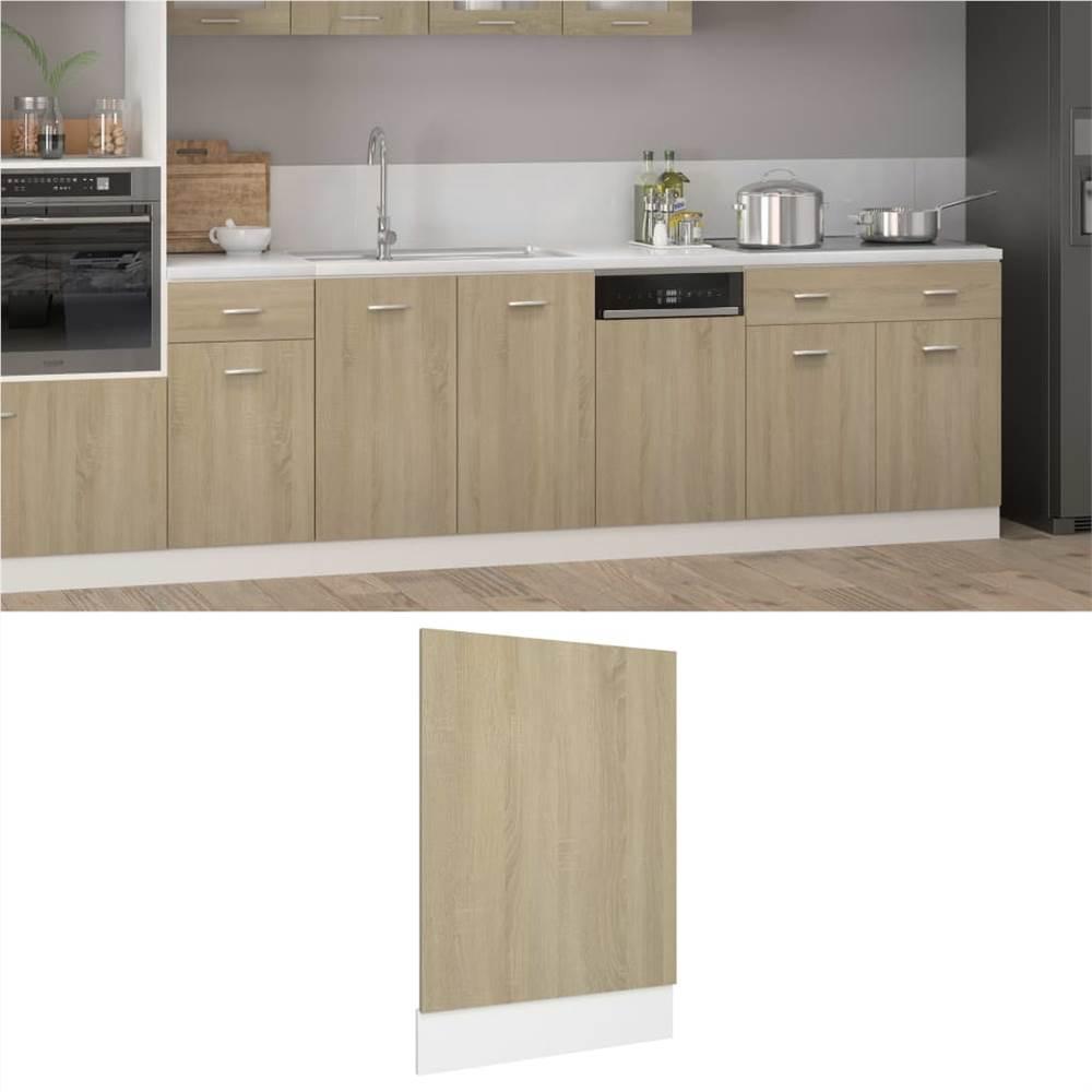 Dishwasher Panel Sonoma Oak 45x3x67 cm Chipboard