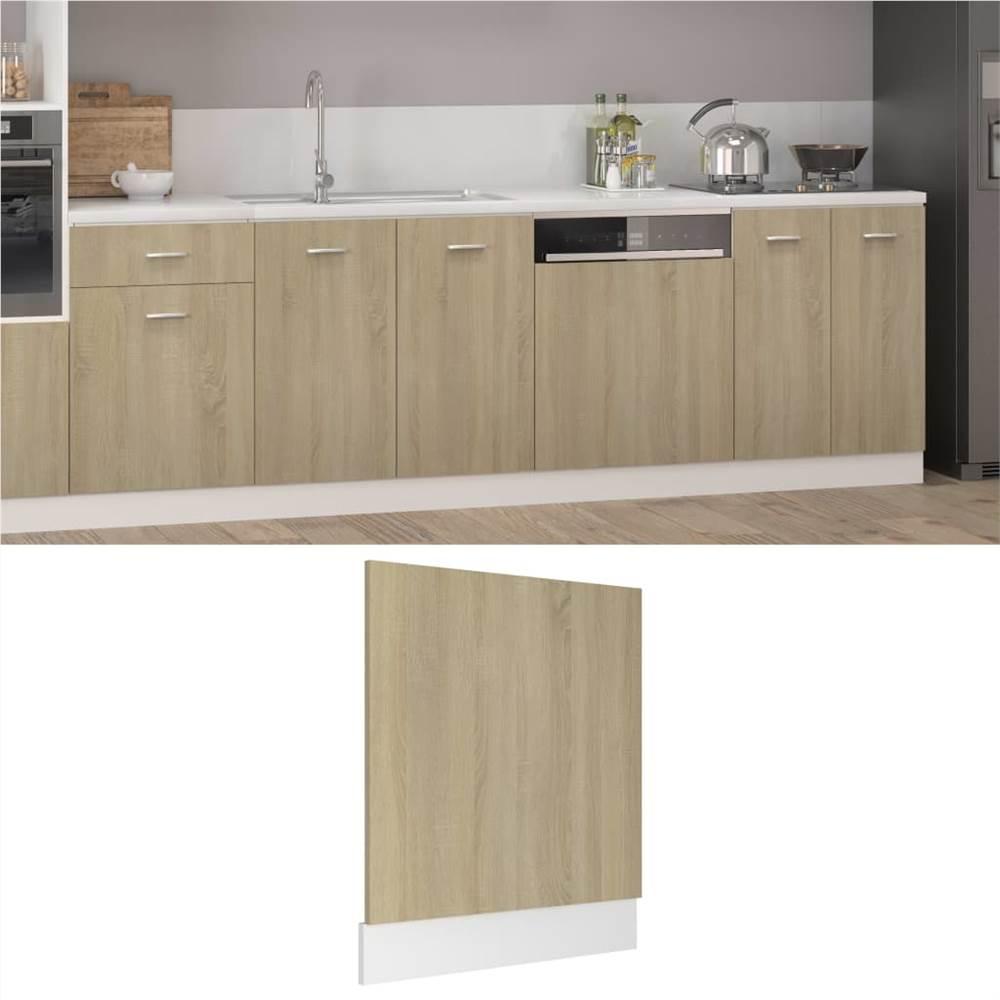 Dishwasher Panel Sonoma Oak 59.5x3x67 cm Chipboard