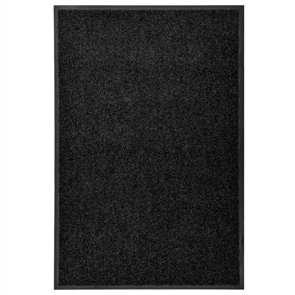 Doormat Washable Black 60x90 cm