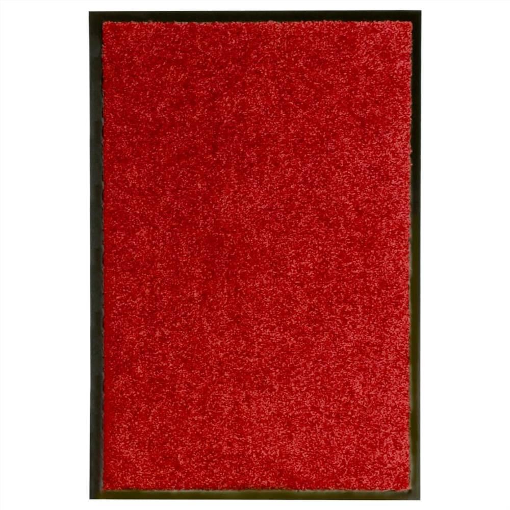 Doormat Washable Red 40x60 cm