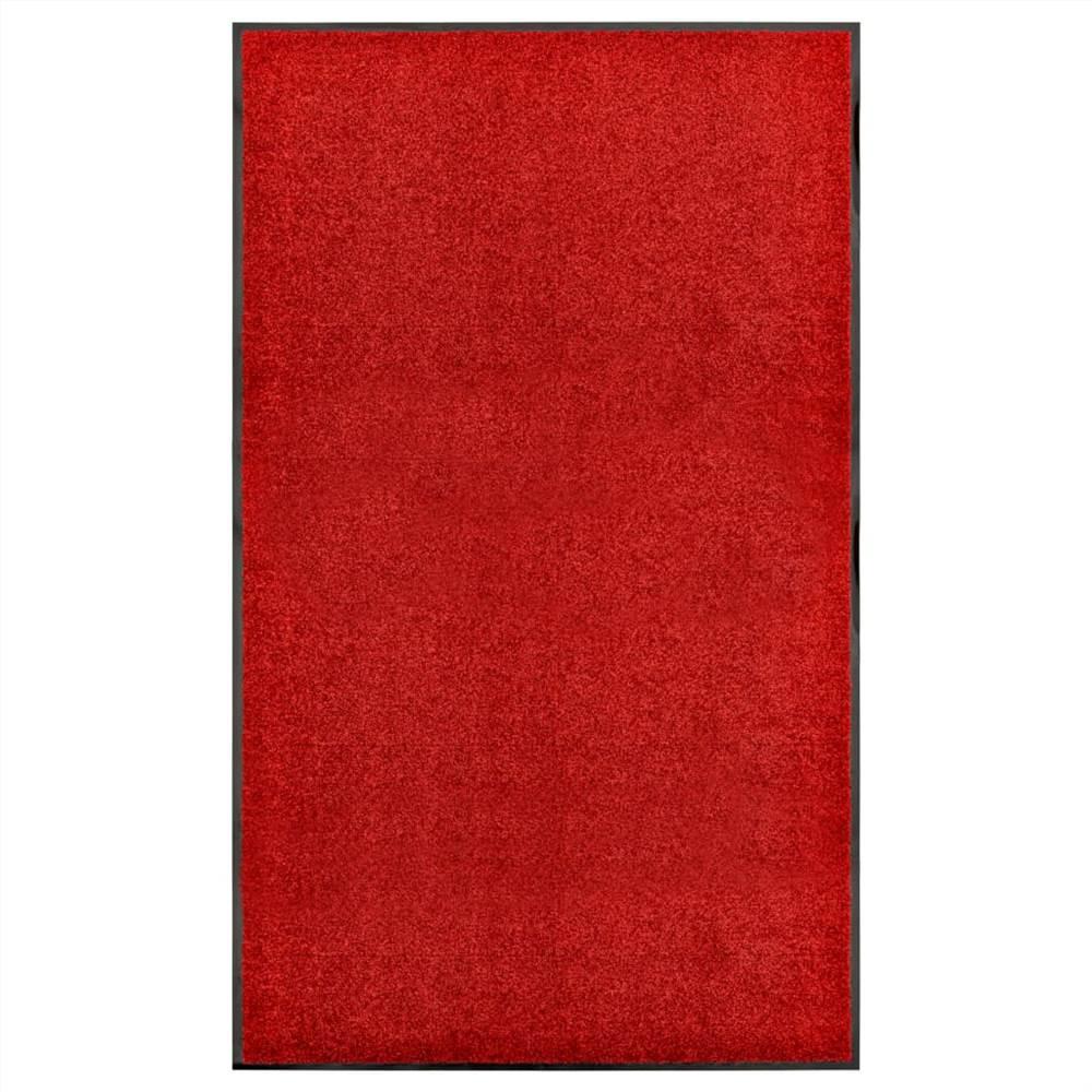 Doormat Washable Red 90x150 cm