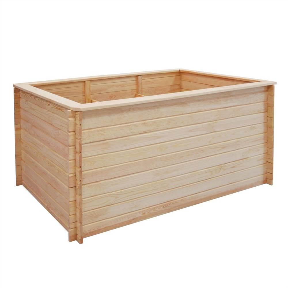Garden Raised Bed 150x100x80 cm Pinewood 19 mm