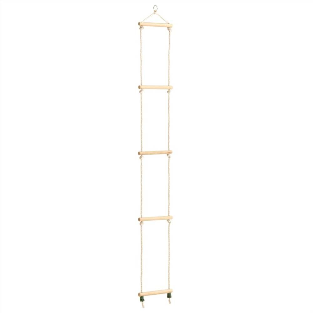 Échelle de corde pour enfant en bois massif et PE 30x168 cm