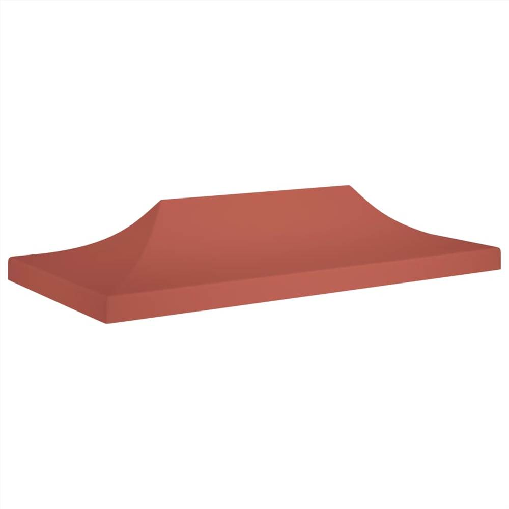 Party Tent Roof 6x3 m Terracotta 270 g/m²
