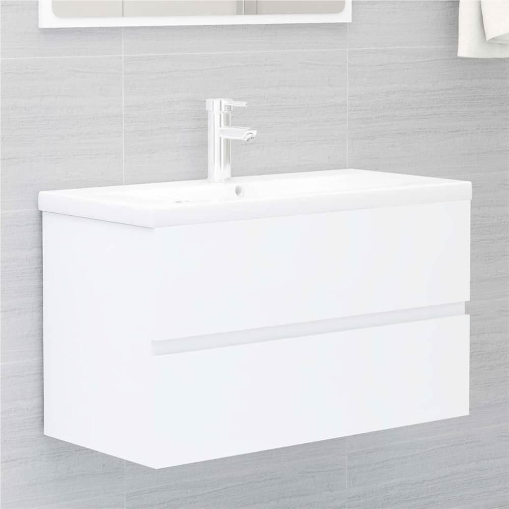 Meuble évier blanc 80x38.5x45 cm aggloméré