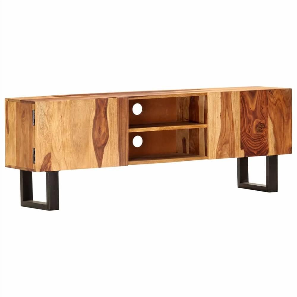 TV Cabinet 130x30x47 cm Solid Acacia Wood