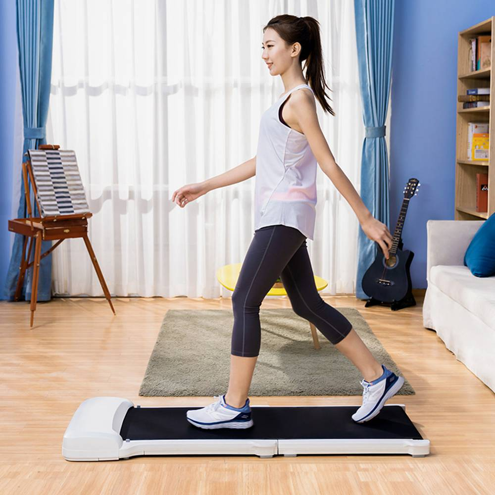 WalkingPad C1 Fitness Walking Machine Pliable Electric Gym Equipment App Control De Xiaomi Youpin - Blanc