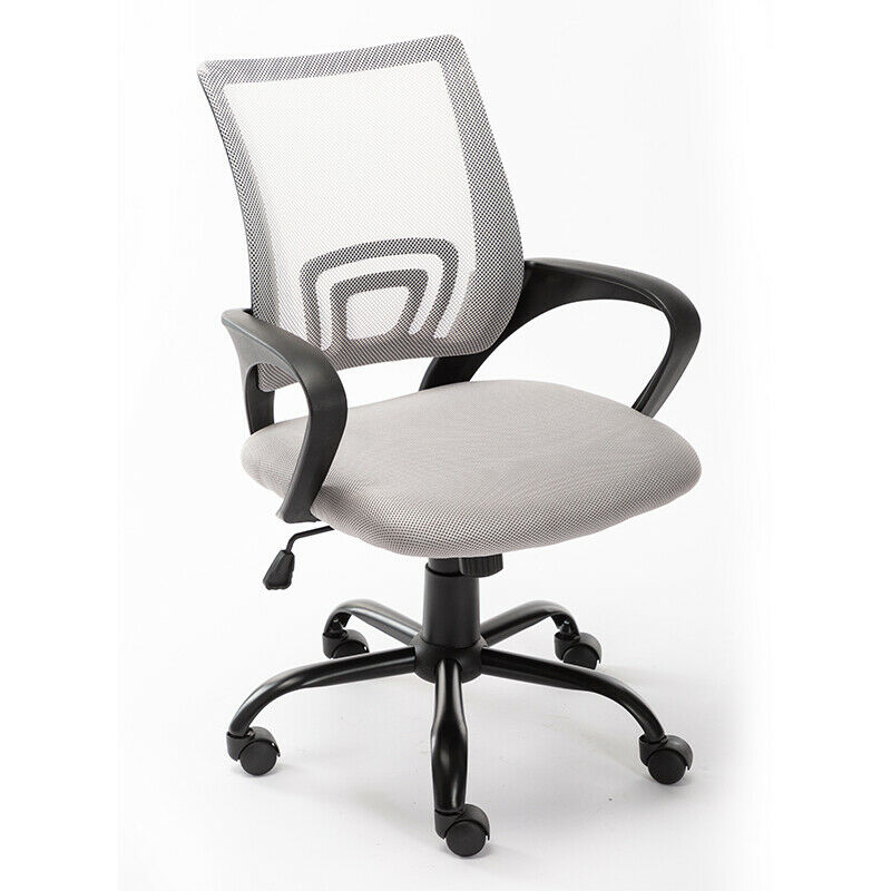 Art Life Home Office Mesh Swivel Chair Adjustable Height with Armrests and Ergonomics Backrest - White