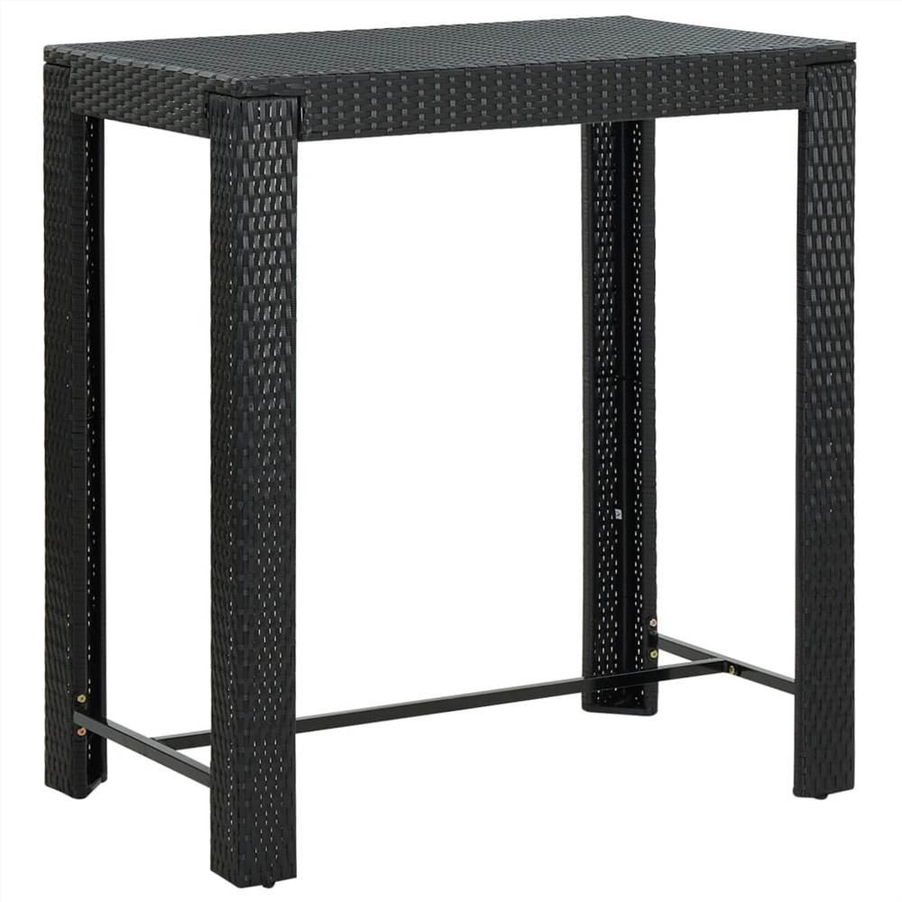 Garden Bar Table Black 100x60.5x110.5 cm Poly Rattan