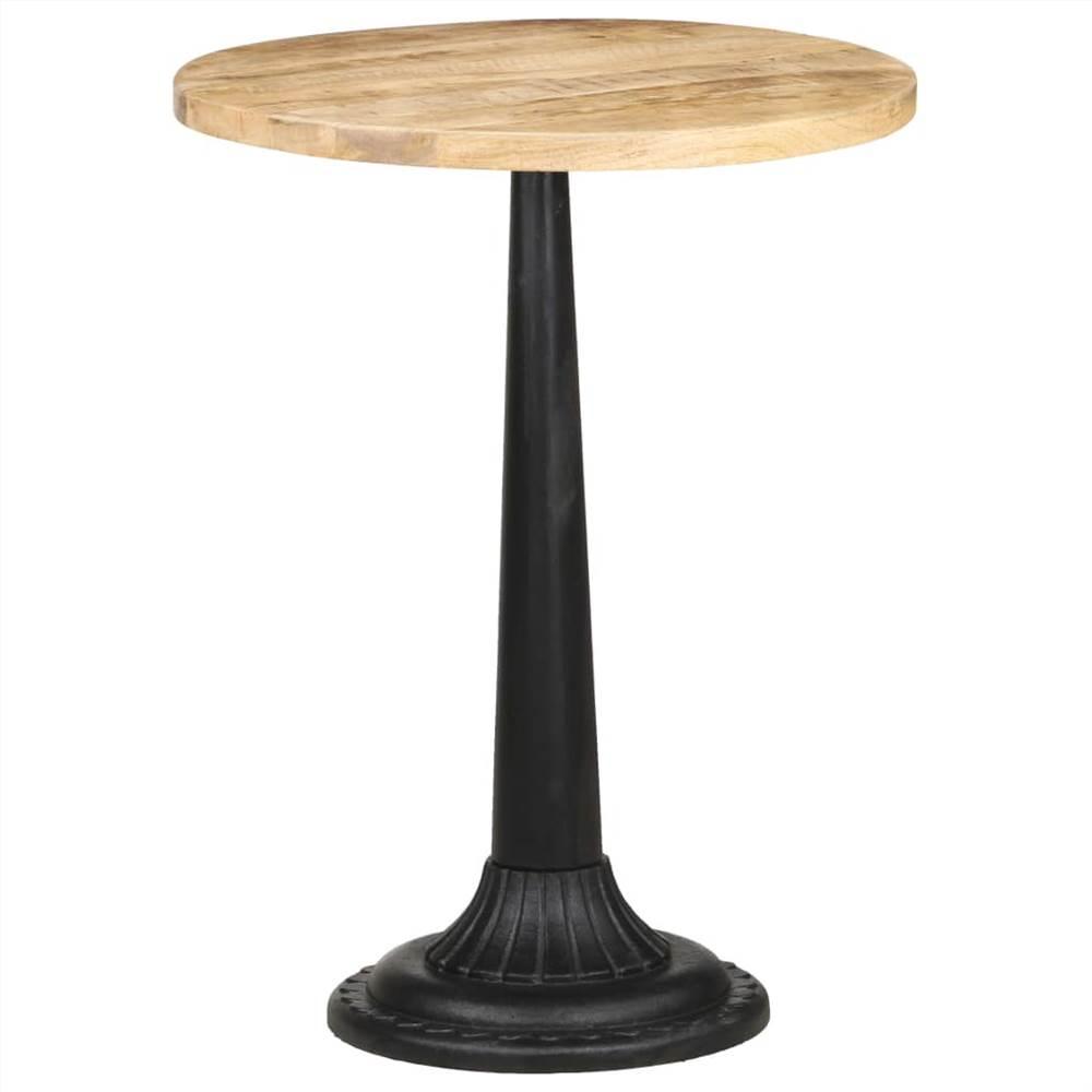 Bistro Table Ø60x76 cm Rough Mango Wood