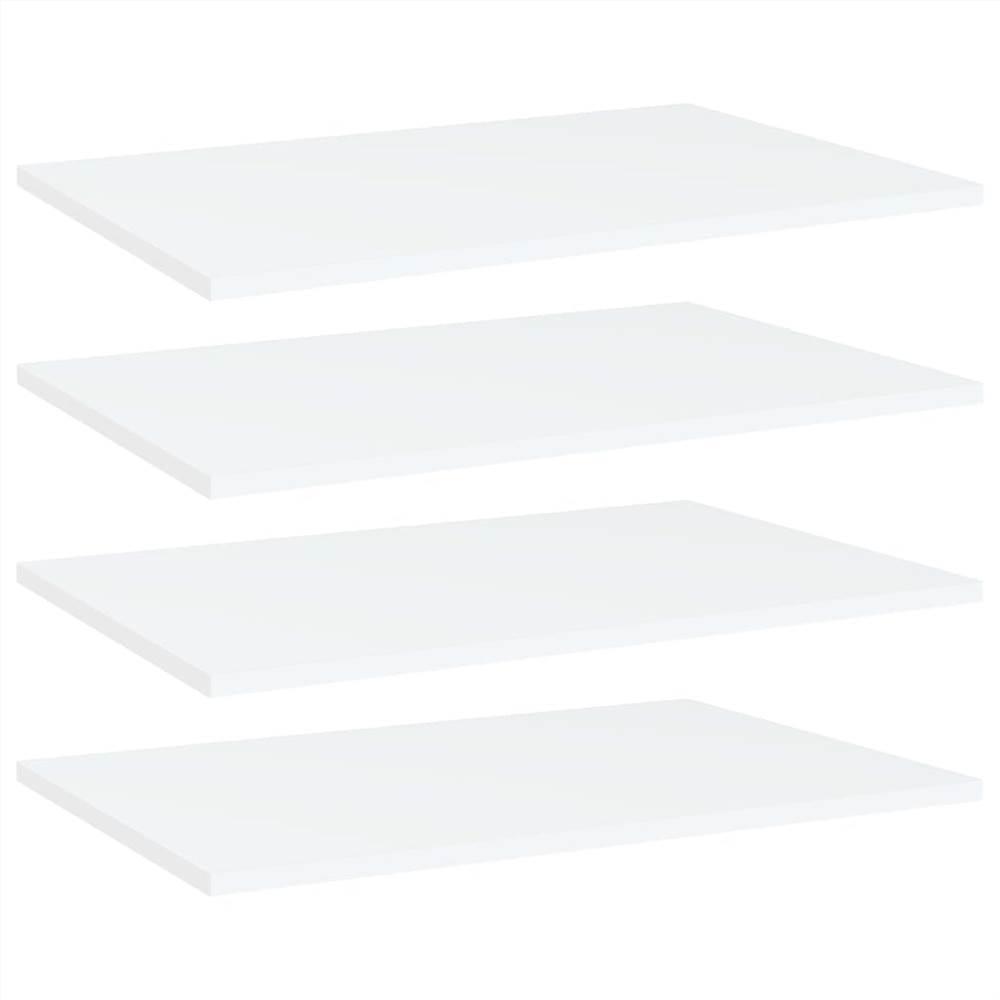 Bookshelf Boards 4 pcs White 60x40x1.5 cm Chipboard