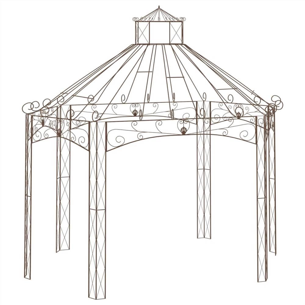 Garden Pavilion Antique Brown 400x258x378 cm Iron