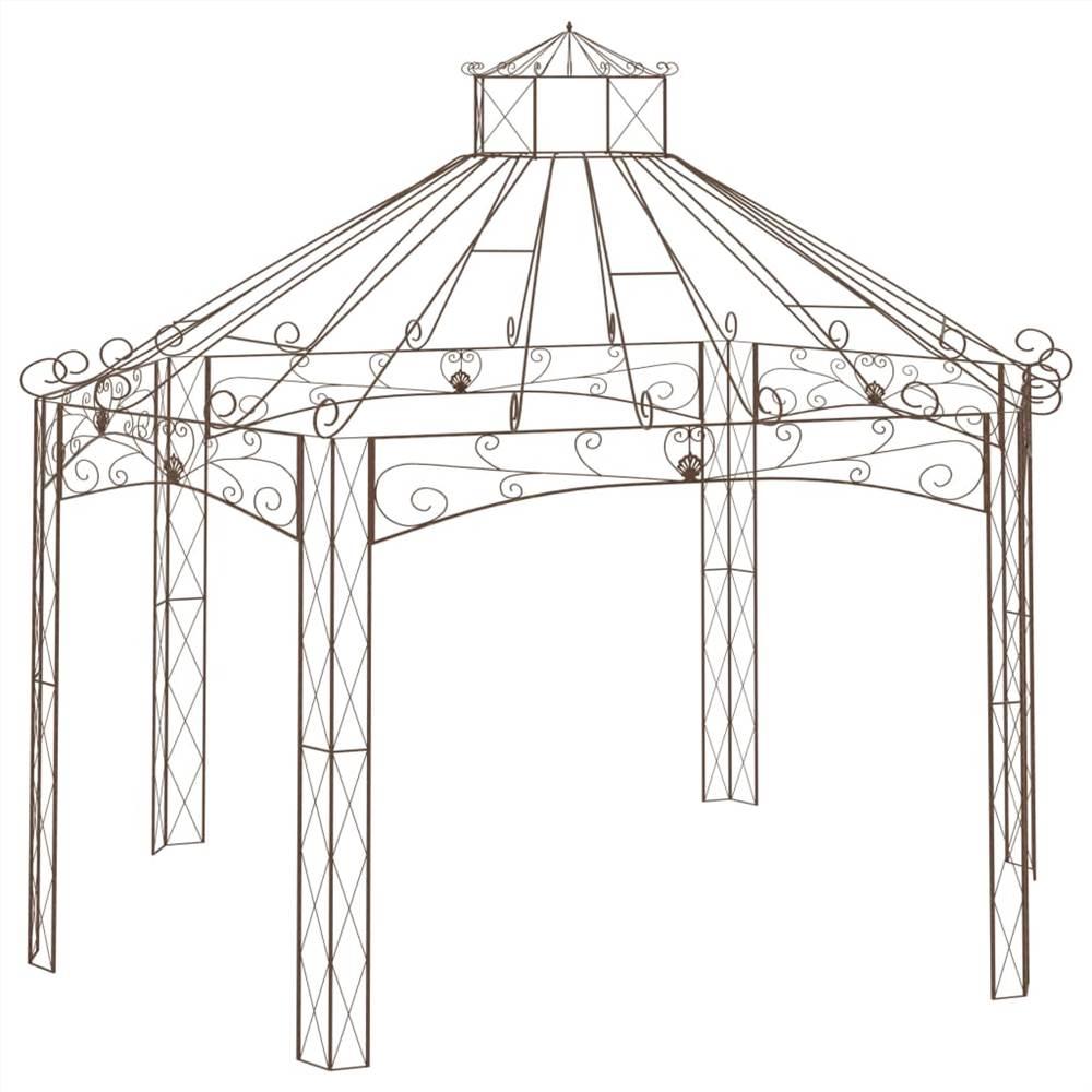 Garden Pavilion Antique Brown 558x350x408 cm Iron