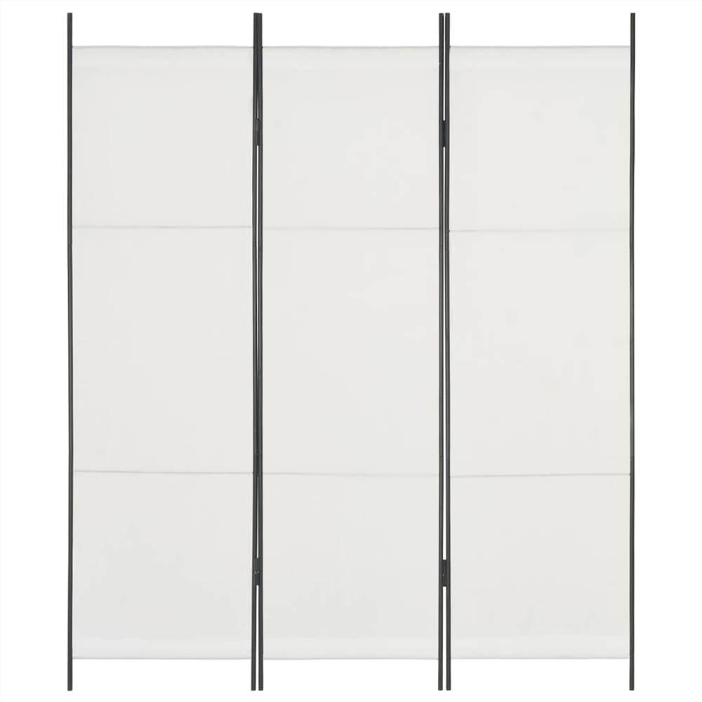 Séparateur d'espace à 3 panneaux blanc 150x180 cm