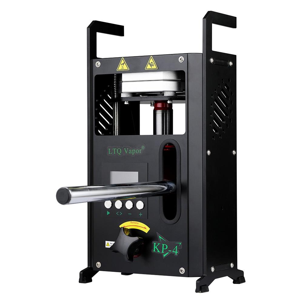 KP-4 kolofóni sajtológép kettős fűtésű szilárd alumínium lemez hőmérséklet-szabályozó funkcióval - fekete