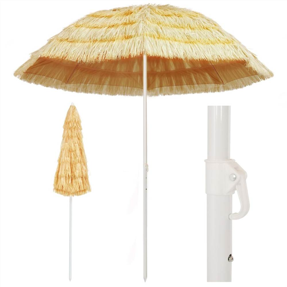Beach Umbrella Natural 240 cm Hawaii Style