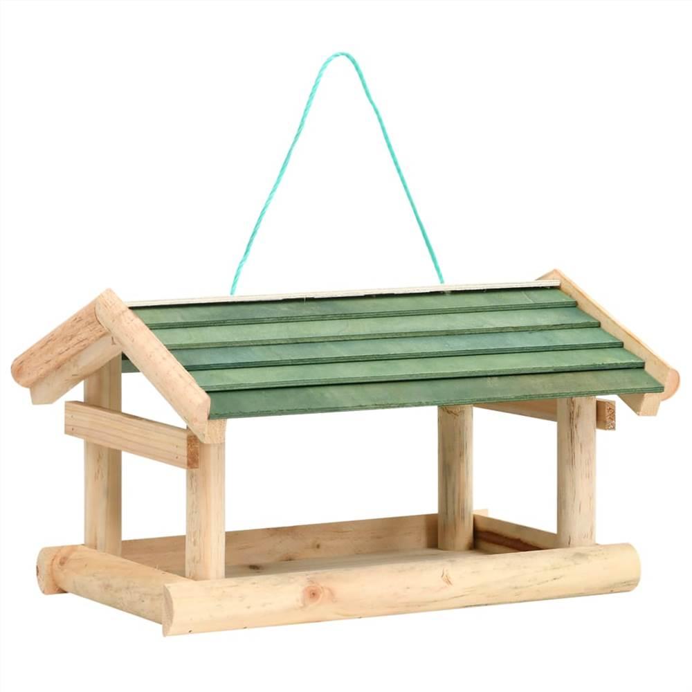 Comedouro para pássaros em madeira maciça 35x29.5x21 cm