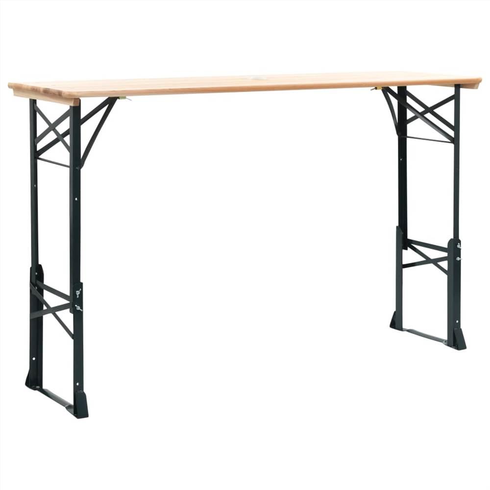 Folding Beer Table 169x50x75/105 cm Pinewood