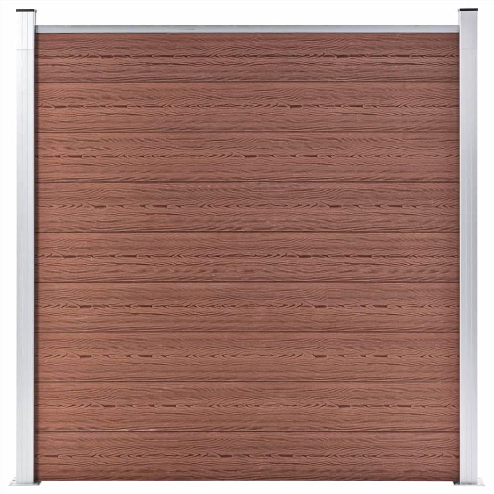 Garden Fence WPC 180x186 cm Brown
