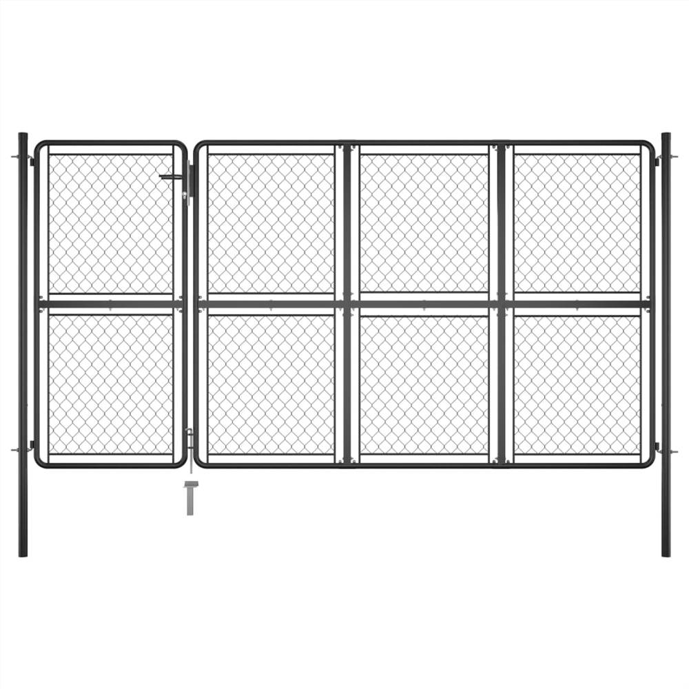 Garden Gate Steel 175x350 cm Anthracite, Other  - buy with discount