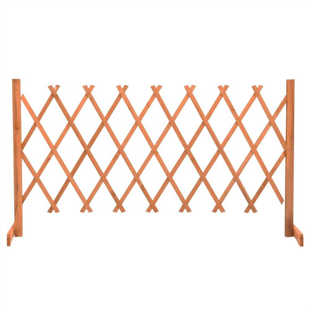 Garden Trellis Fence Orange 150x80 cm Solid Firwood