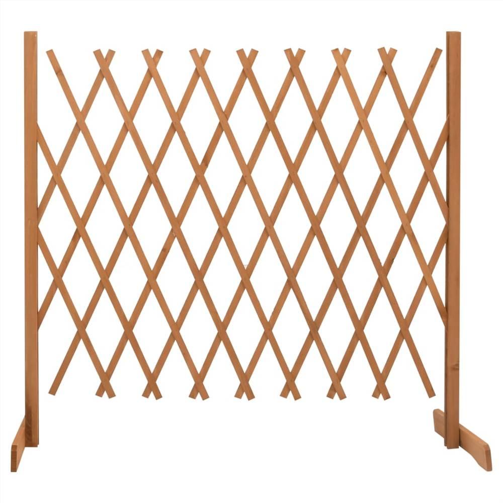 Garden Trellis Fence Orange 180x100 cm Solid Firwood