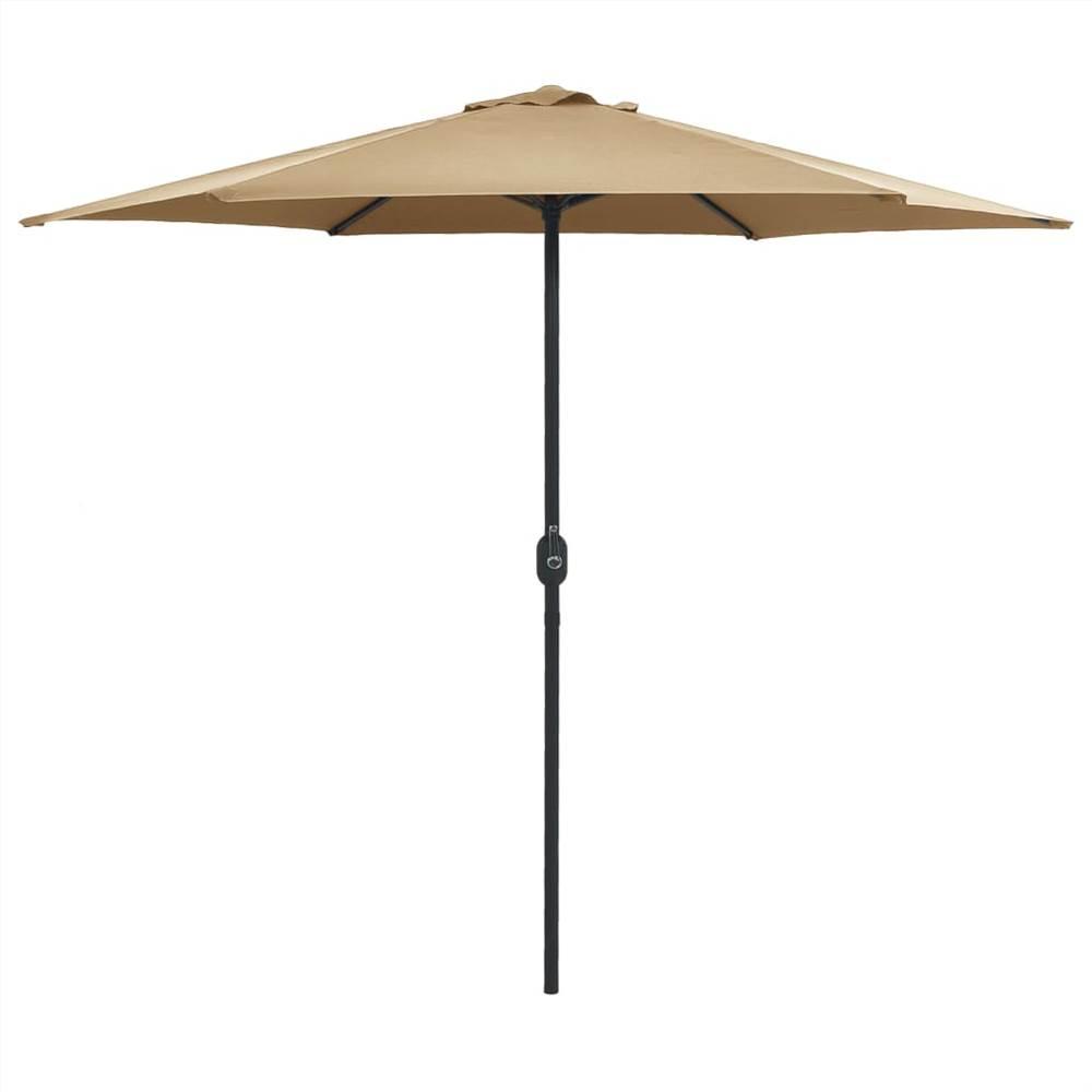 Outdoor Parasol with Aluminium Pole 270x246 cm Taupe