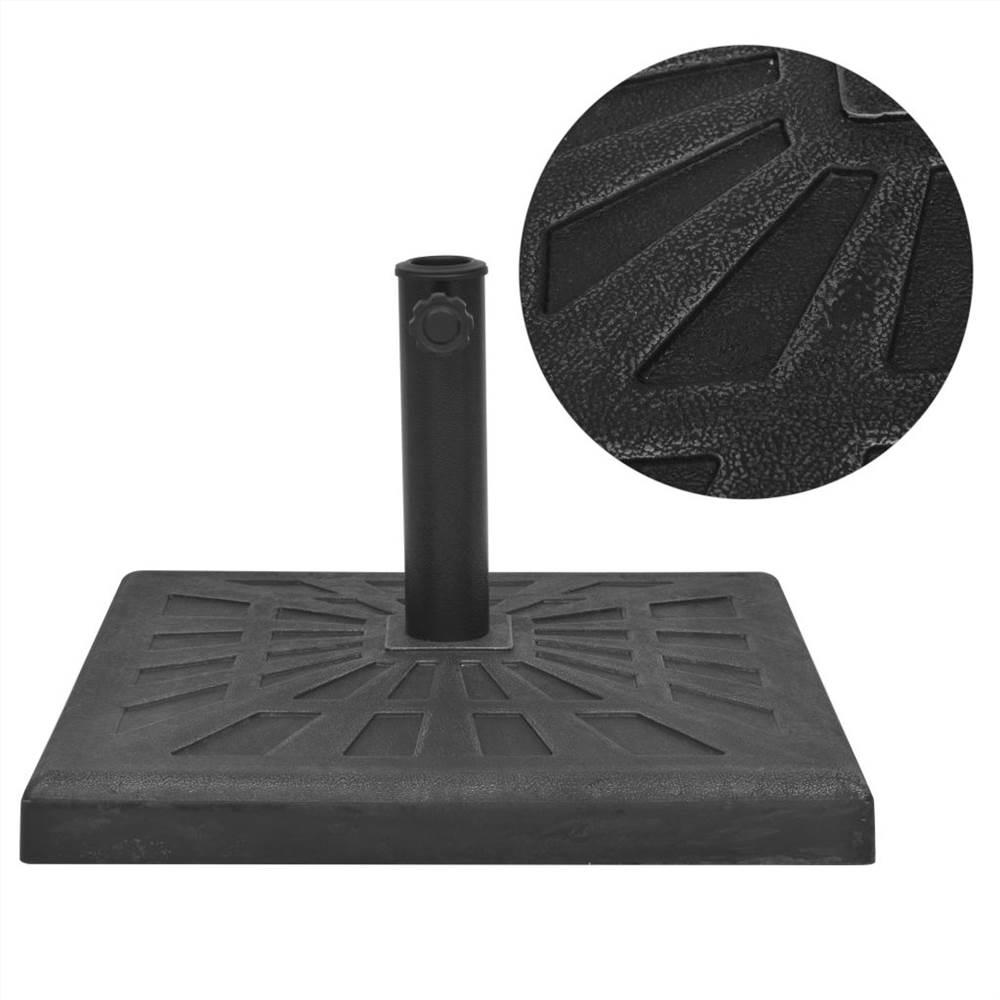 Parasol Base Resin Square Black 12 kg