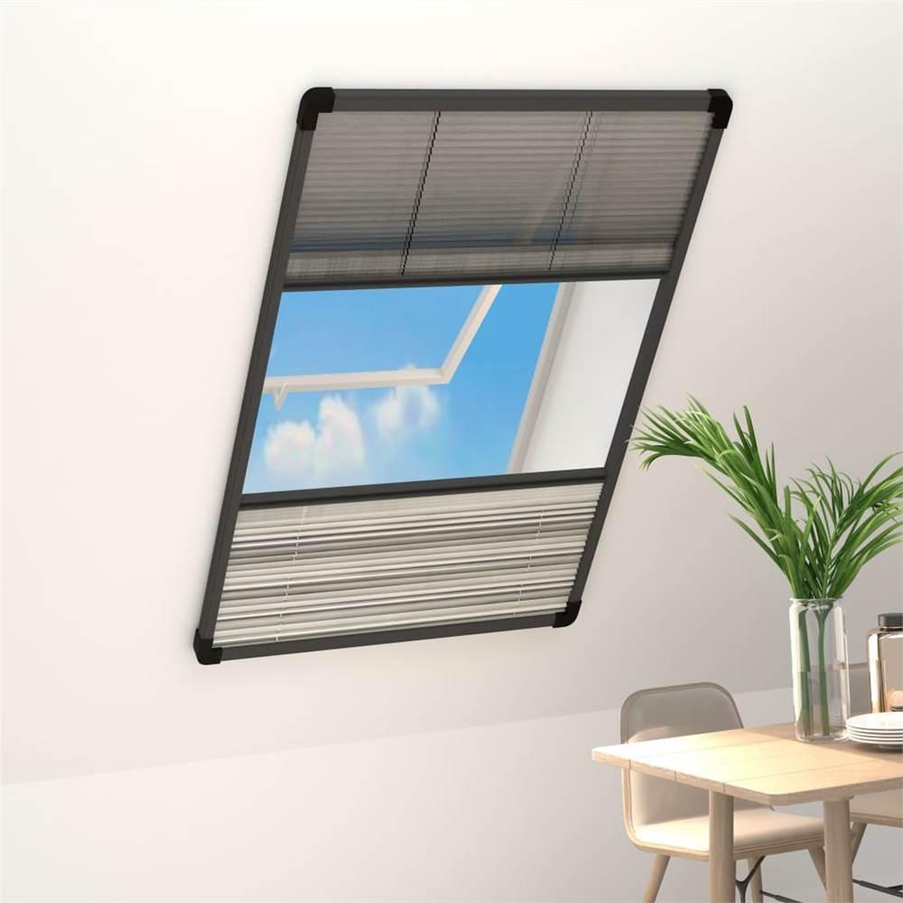 シェード付き Windows アルミニウム 80x160 cm 用 Plisse 昆虫スクリーン