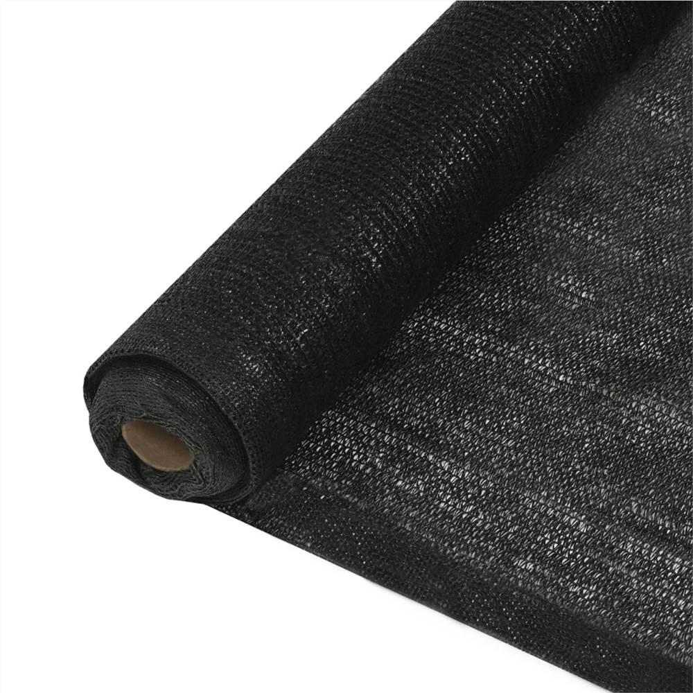 Privacy Net HDPE 2x25 m Black 150 g/m²