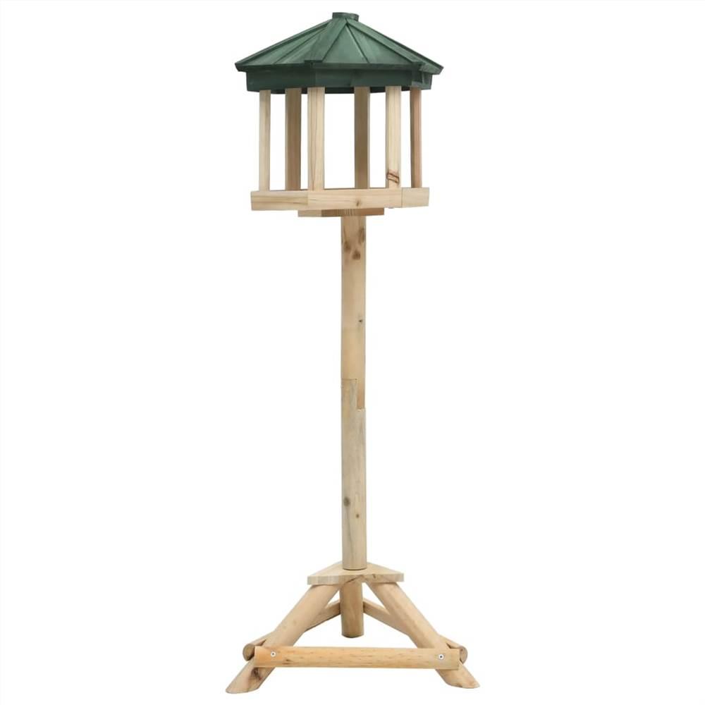 Comedouro para pássaros em pé Firwood sólido 33x106 cm