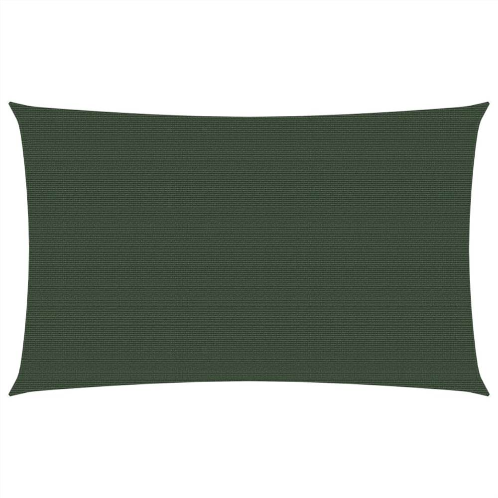 Sunshade Sail 160 g/m² Dark Green 3.5x5 m HDPE