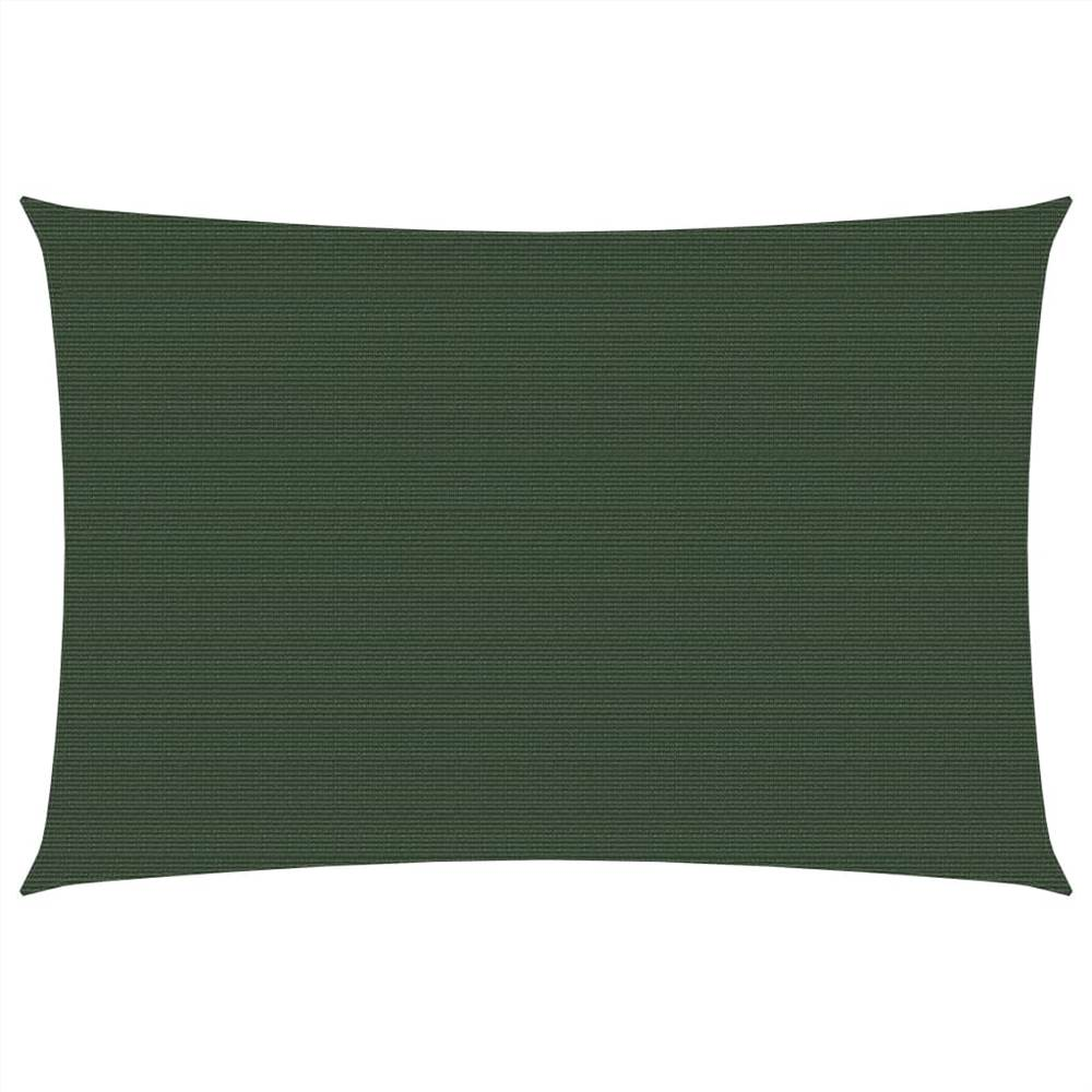 Sunshade Sail 160 g/m² Dark Green 4x5 m HDPE