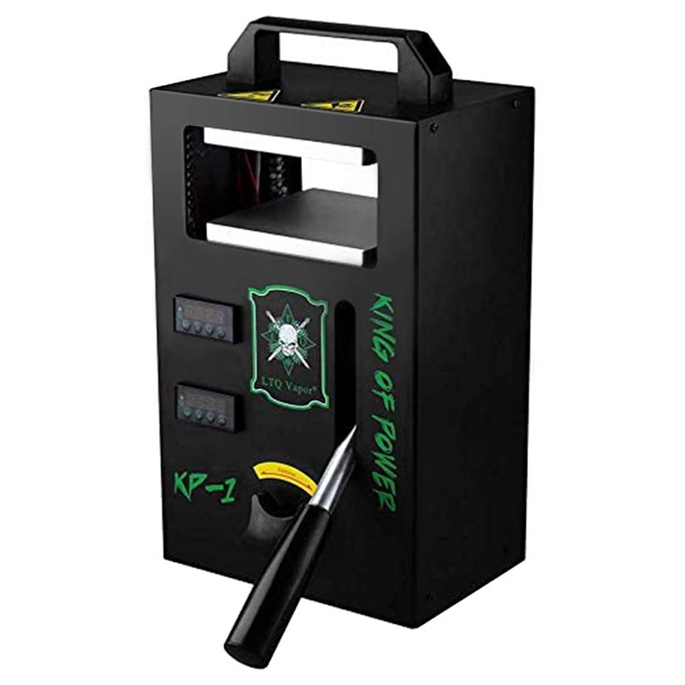 KP-1 Tech-L Machine de presse à chaud pour colophane 4.5 x 4.7 pouces 1000W avec 4 tiges chauffantes pour presser de grands lots - Noir