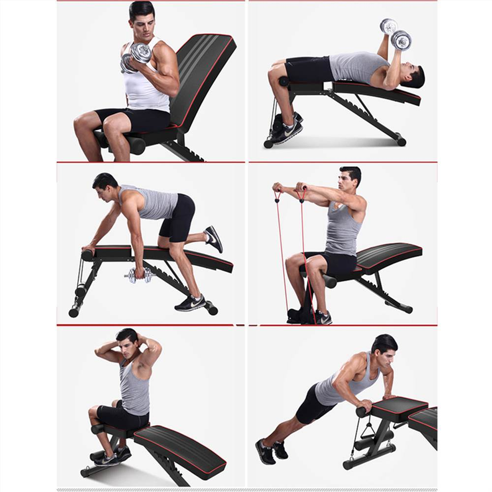 Adjustable Weight Bench - Utility Weight Benches for Full Body Workout Foldable Flat/Incline/Decline FID Bench Press for Home Gym