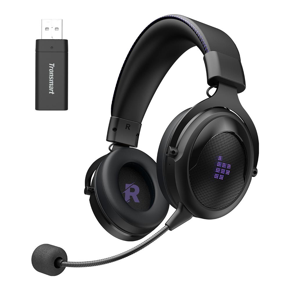 Casque de jeu sans fil Tronsmart Shadow 2.4G - Noir + Violet