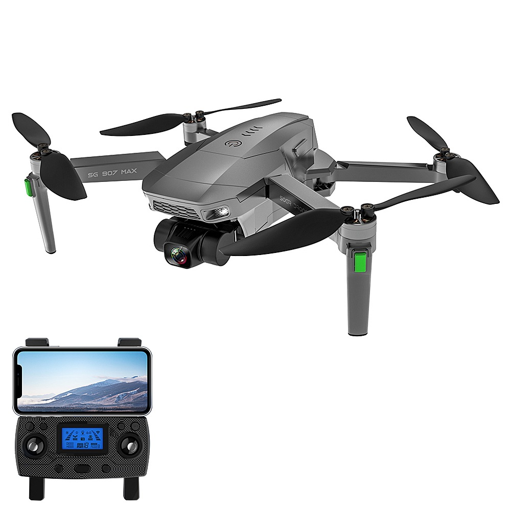 ZLL SG907 MAX 4K 5G WIFI FPV GPS Foldable RC Drone with Dual Camera 3-Axis Gimbal Optical Flow Positioning RTF - Two Batteries with Bag