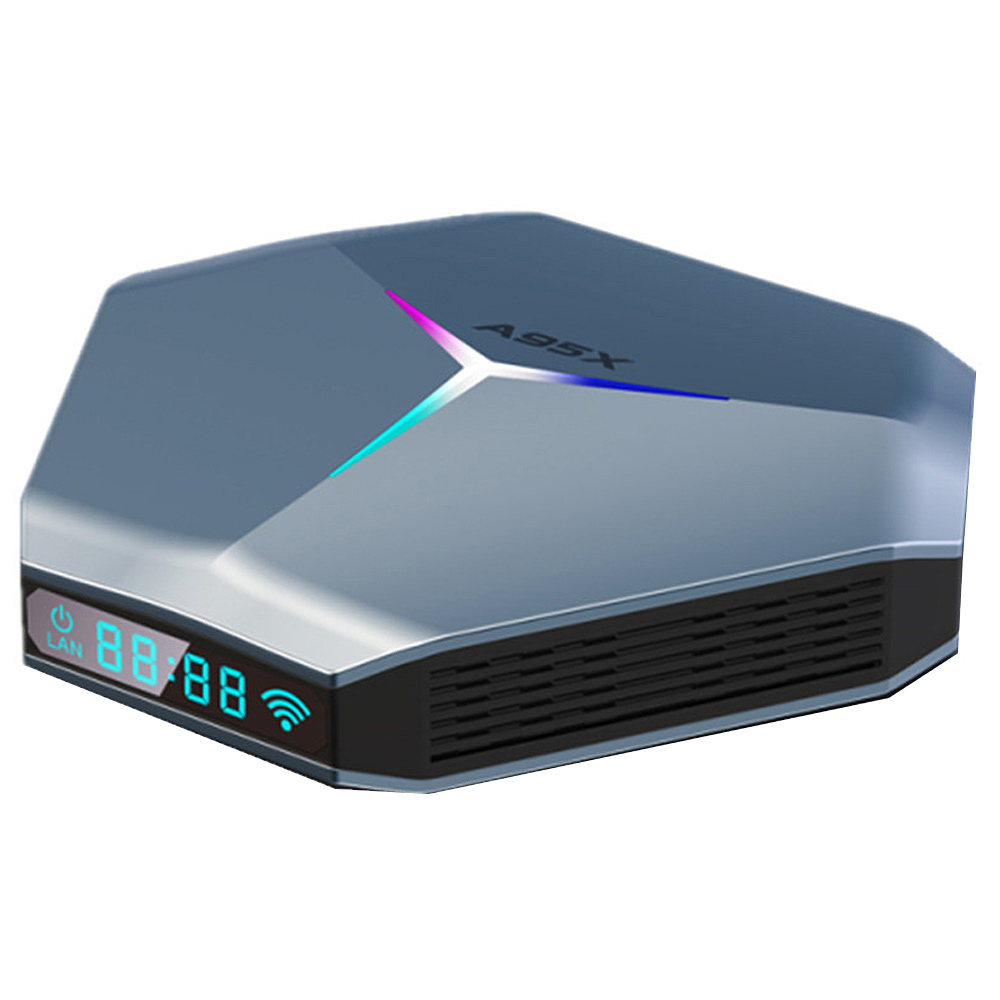 A95X F4 אנדרואיד 10 Amlogic S905X4 4GB / 128GB TV BOX RGB Light 2.5G + 5G WIFI Bluetooth 4.2 8K HDR