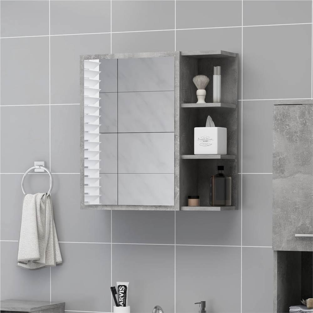 Espelho de banheiro Gabinete concreto cinza 62.5x20.5x64 cm aglomerado