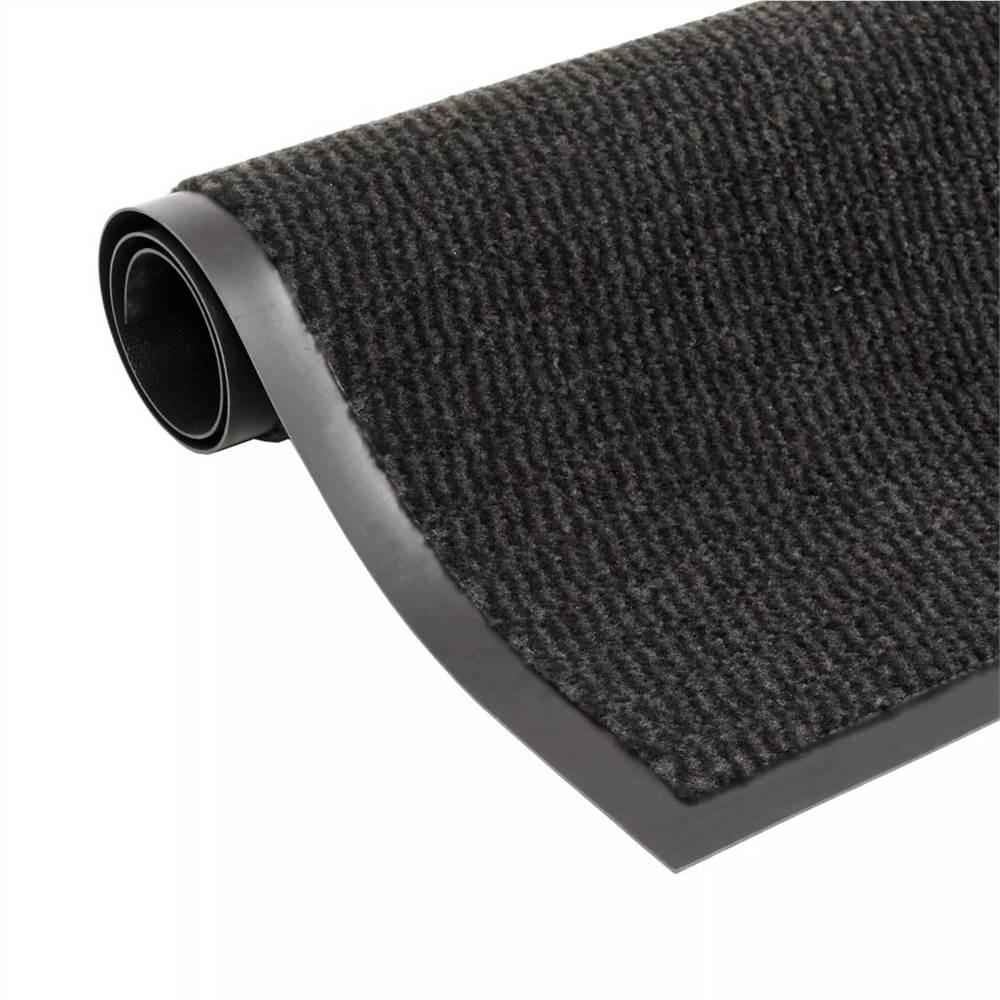 Tapis Antipoussière Rectangulaire Tufté 120x180 cm Noir