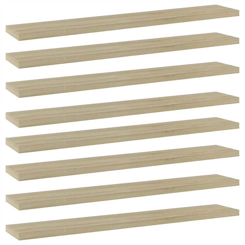 Planches étagères 8 pcs Chêne Sonoma 60x10x1.5 cm Aggloméré
