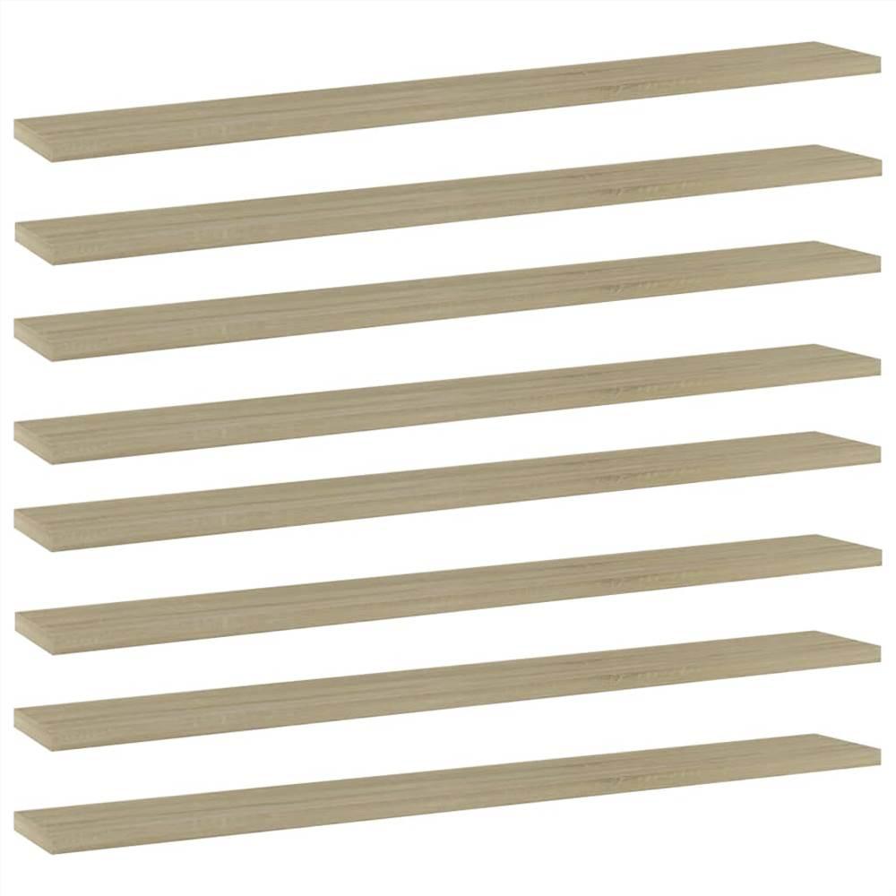 Planches étagères 8 pcs Chêne Sonoma 80x10x1.5 cm Aggloméré