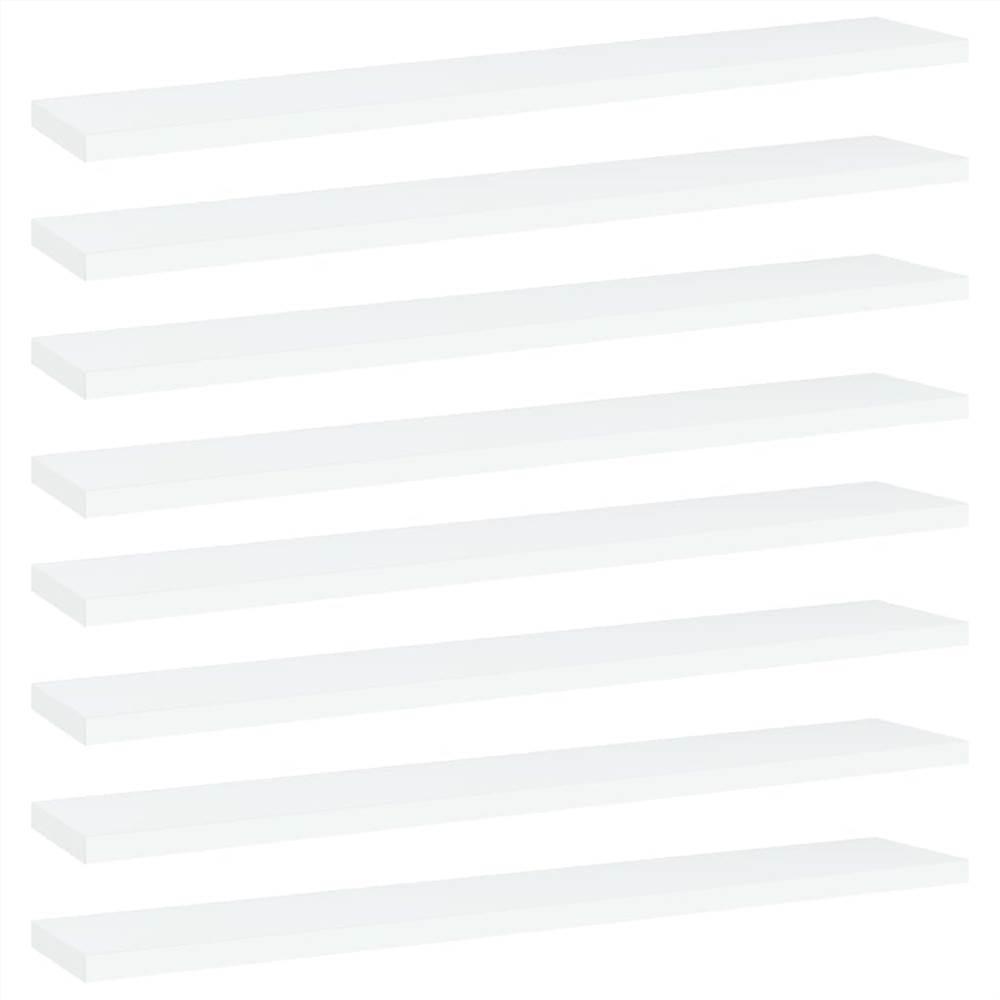 Planches étagères 8 pcs Blanc 60x10x1.5 cm Aggloméré