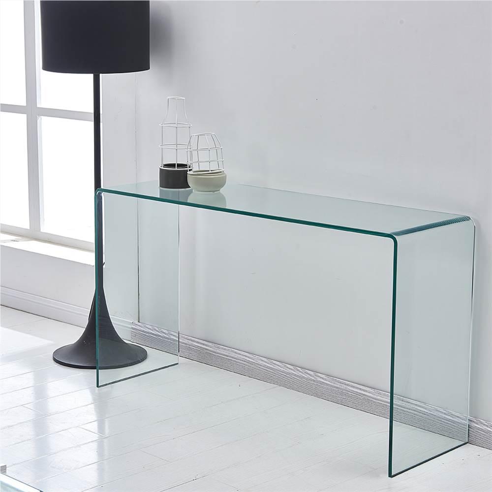 """Table basse en verre trempé de 43.3 """"pour salon, bureau, appartement, restaurant - Transparent"""
